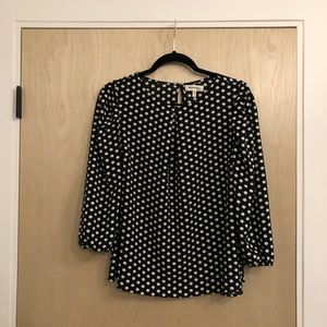 Black and White Polka Dotted Shirt
